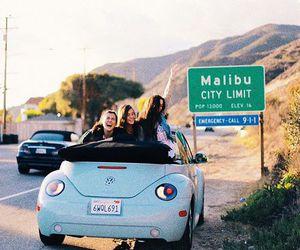 travel, malibu, and friends image