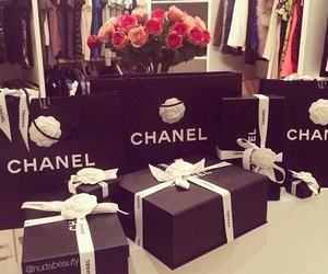 chanel, luxury, and flowers image