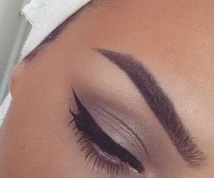 eyebrows, makeup, and eyeliner image