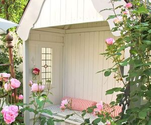 garden, flowers, and pink image