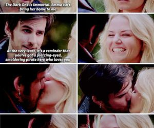 hook, love, and captain swan image