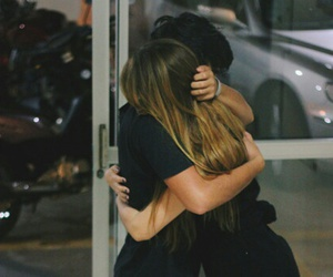 love, hug, and couple image