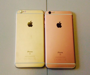 apple, rosegold, and iphone 6s plus image