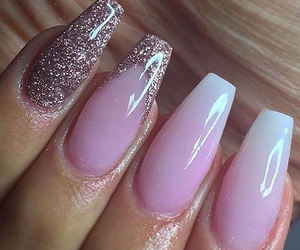 nails, long nails, and pink image