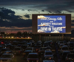 big screen, drive in, and fun image