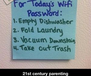 funny, wifi, and parenting image