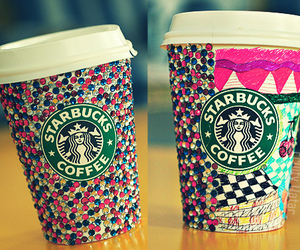 colorful, starbucks, and cute image