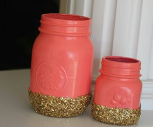 etsy, coral, and gold image