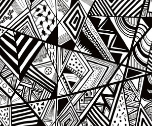 pattern and black and white image