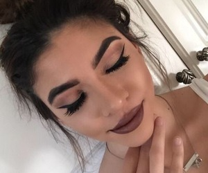 eyebrows, flawless, and beauty image