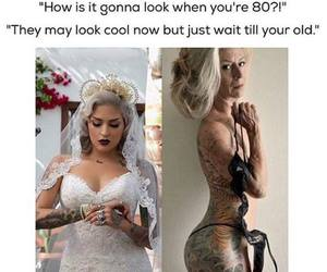 tattoo, old, and wedding image