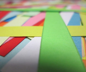 colourful, origami, and stripes image