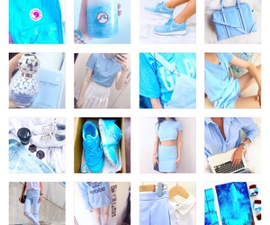 baby blue, blue, and shoes image