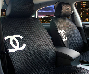 black, chanel, and car image