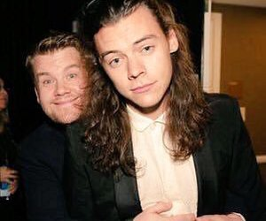 Harry Styles, one direction, and james corden image