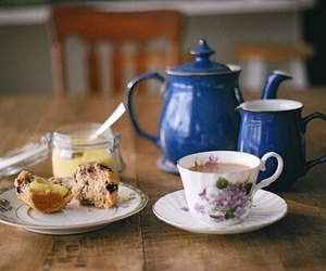 tea, vintage, and food image