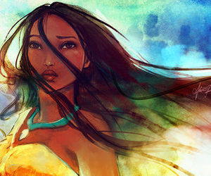 art, disney, and pocahontas image