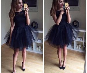 black, dress, and girls image