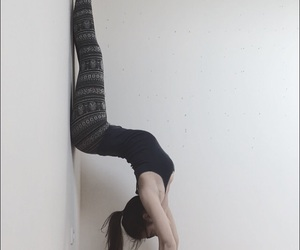 fitness, handstand, and indie image