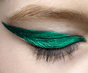 green, makeup, and eyes image