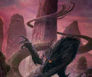 art, fantasy, and serpent image