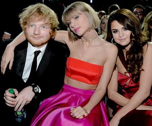 Taylor Swift, ed sheeran, and selena gomez image