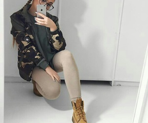 camouflage, fashion, and girl image