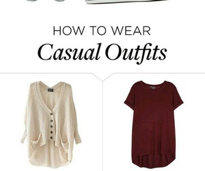 casual, outfits, and sweater image