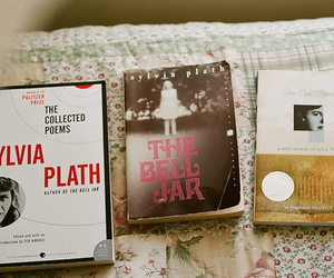 book, sylvia plath, and vintage image