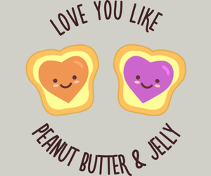 jelly, peanut butter, and sandwich image