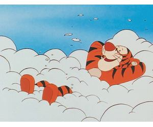 animation, cloud, and Pooh bear image