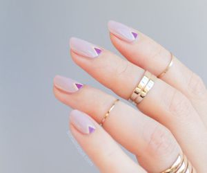 nails, nail art, and rings image