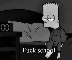 fuck school, hate, and want sleep image
