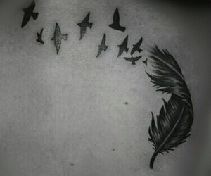 birds, Tattoos, and wing image