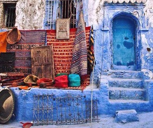 morocco, blue, and chefchaouen image