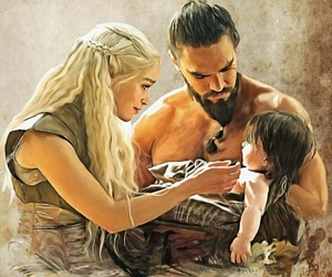 game of thrones, khal drogo, and daenerys image