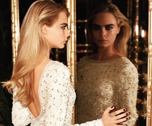 cara delevingne, model, and dress image
