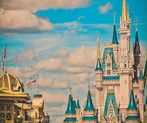 disney, castle, and disney land image