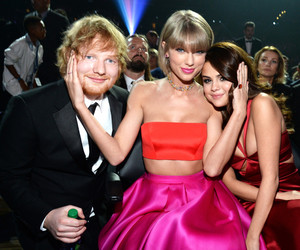 selena gomez, Taylor Swift, and ed sheeran image