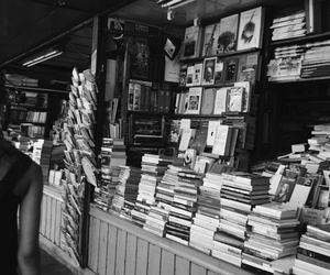 blackandwhite, books, and bw image