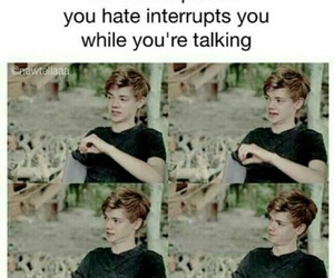 funny, newt, and thomas brodie sangster image