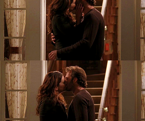 gilmore girls, lorelai and luke, and their first kiss image