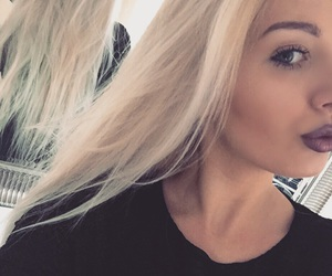 beauty, longhair, and blondhair image