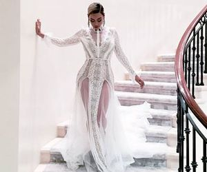 beyoncé, dress, and white image