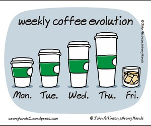 coffee, funny, and friday image
