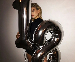 hailey baldwin, 18, and birthday image