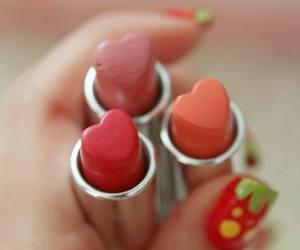 heart, lipstick, and makeup image