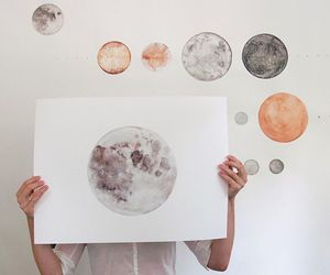 moon, planets, and pretty image