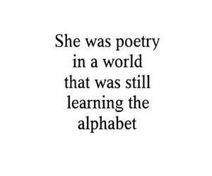 quotes, poetry, and alphabet image