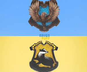 harry potter, ravenclaw, and hufflepuff image